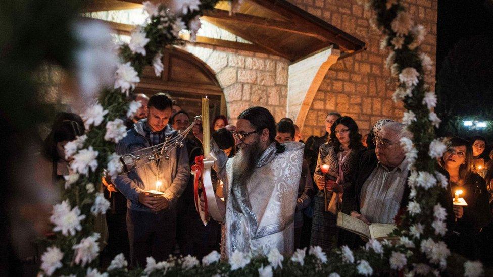 Uskršnja služba u selu Kališta u Severnoj Makedoniji