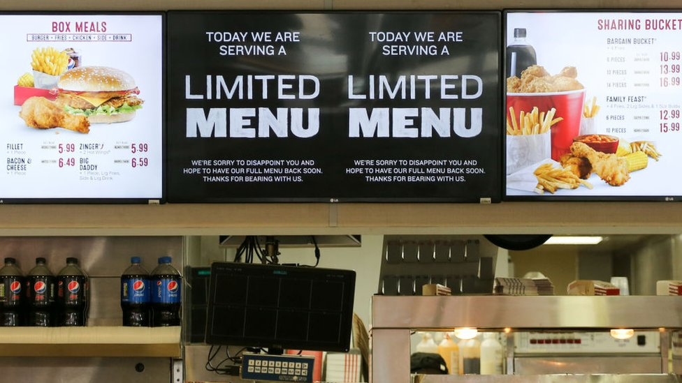 KFC limited menu signs