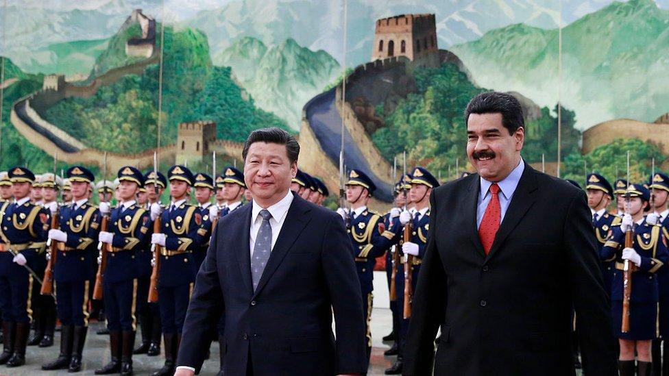 Xi Jinping y Maduro