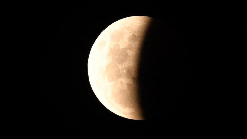 Super Blood Moon di Wollongong, Australia.