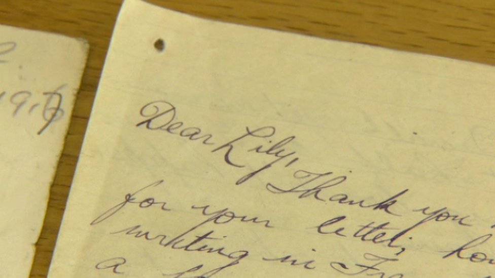 Love letters from world war one
