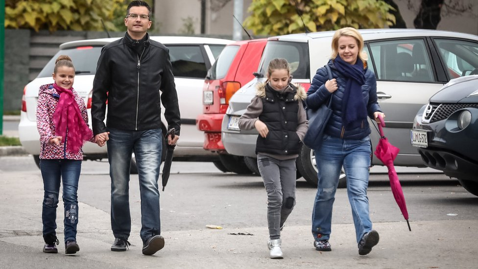 Marjan Šarec sa porodicom, Ljubljana, 22. oktobar 2017.