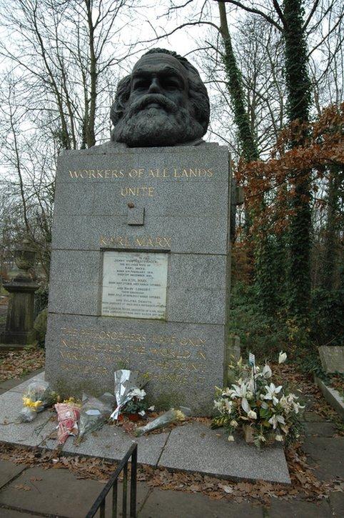 Tumba de Marx en Londres.