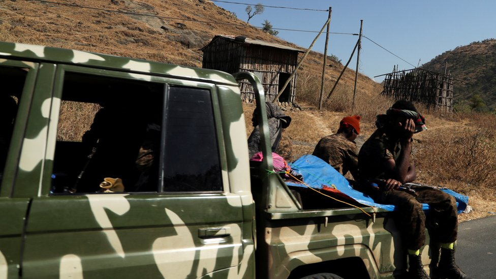 (أرشيف) أفراد من قوات الدفاع الوطني في إثيوبيا