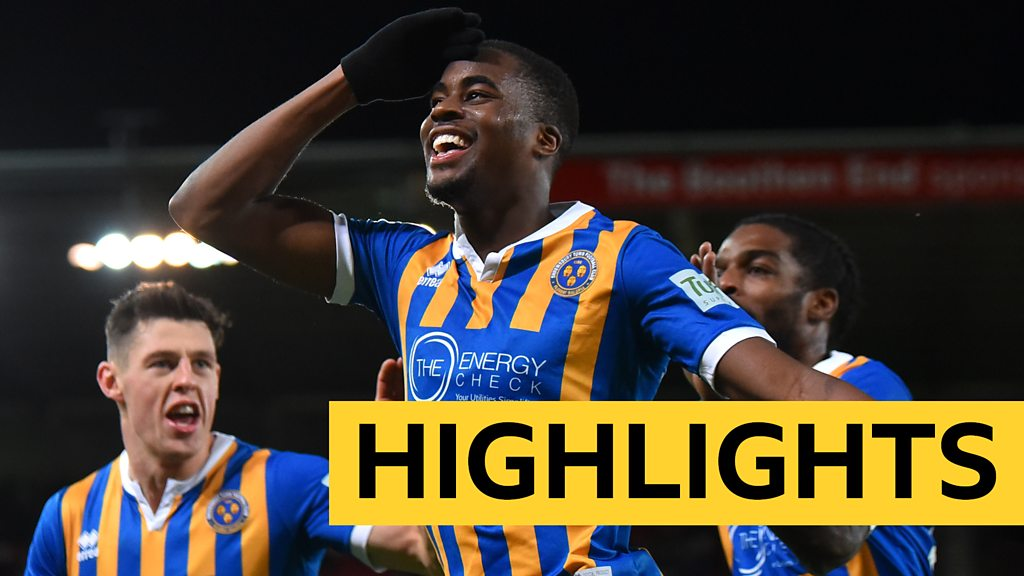 Watch: Shrewsbury fight back to shock Stoke in FA Cup thriller
