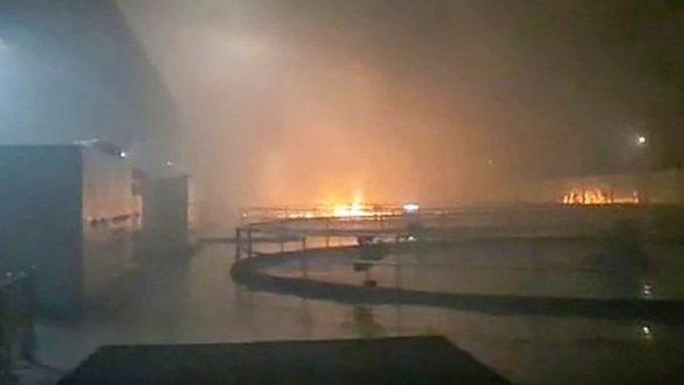 Video grab of blaze