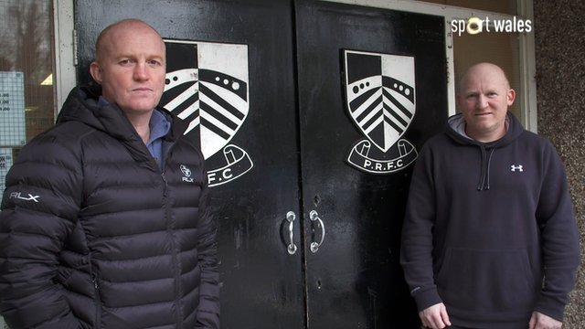 Martyn Williams and Neil Jenkins at Sardis Road