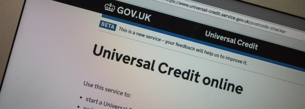 Mobile with Universal Credit website