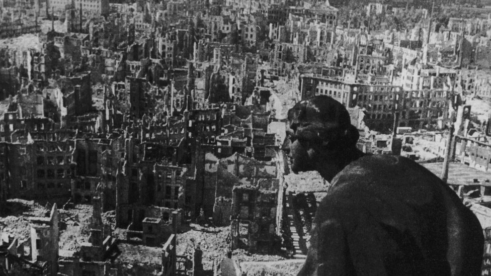 Dresden after the Allied bombing in 1945