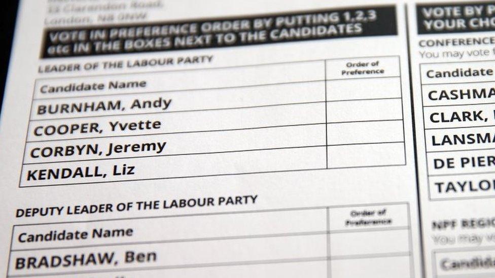 Labour leadership ballot