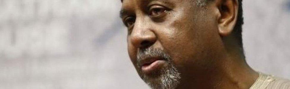 Former Nigeria's national security adviser, Sambo Dasuki