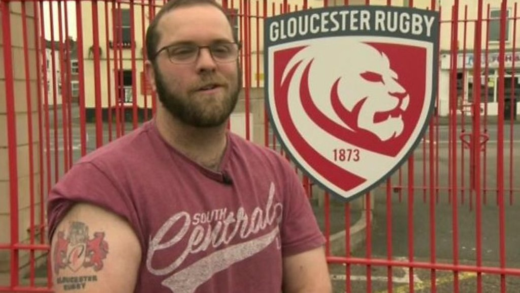Gloucester Rugby reveal new logo and offer to replace fans' old tattoos