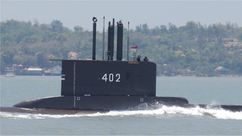 El submarino KRI Nanggala-402, foto de archivo 2014