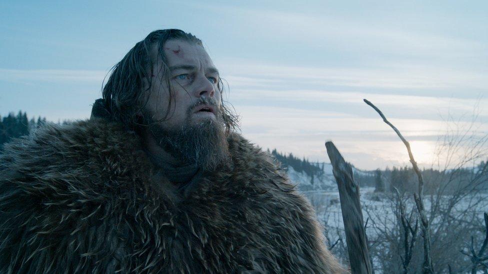 Leonardo DiCaprio as Glass in The Revenant