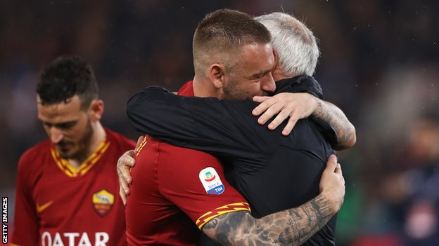 Claudio Ranieri and Daniele de Rossi bid farewell to Roma