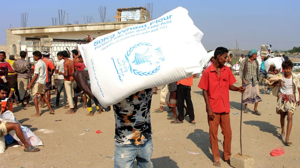 Yemen World Food Programme To Cut Aid By Half In Houthi Controlled Areas Bbc News