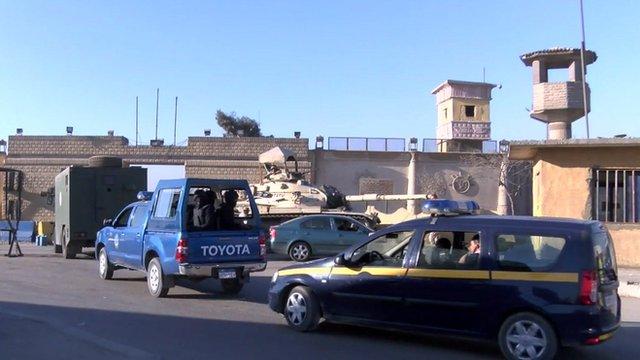 Exterior of Egyptian prison