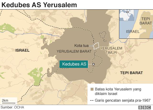 Peta Kedubes AS Yerusalem