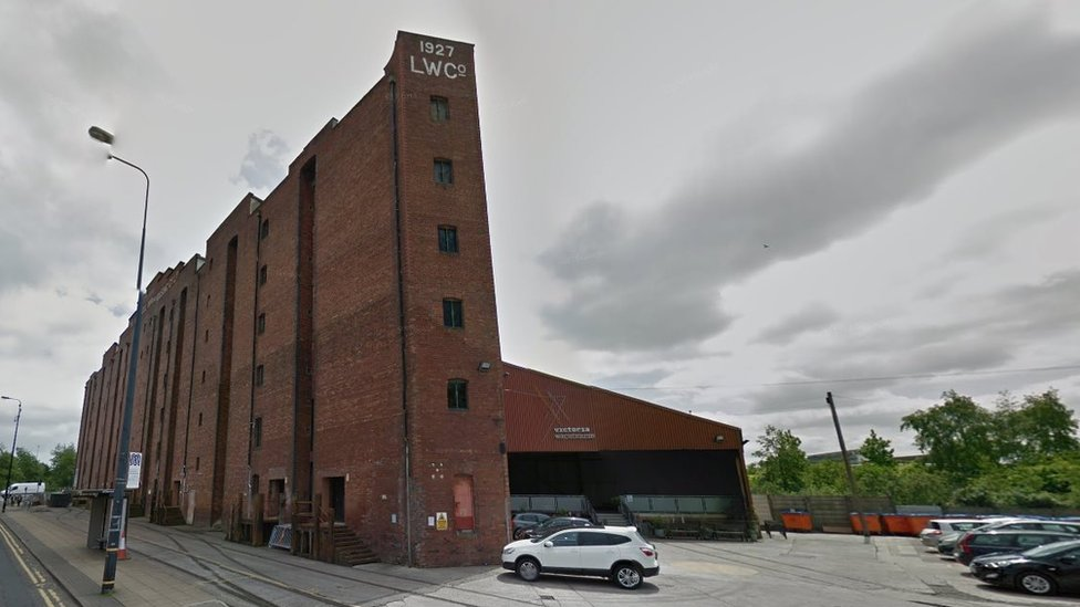 General view of the Victoria Warehouse in Trafford