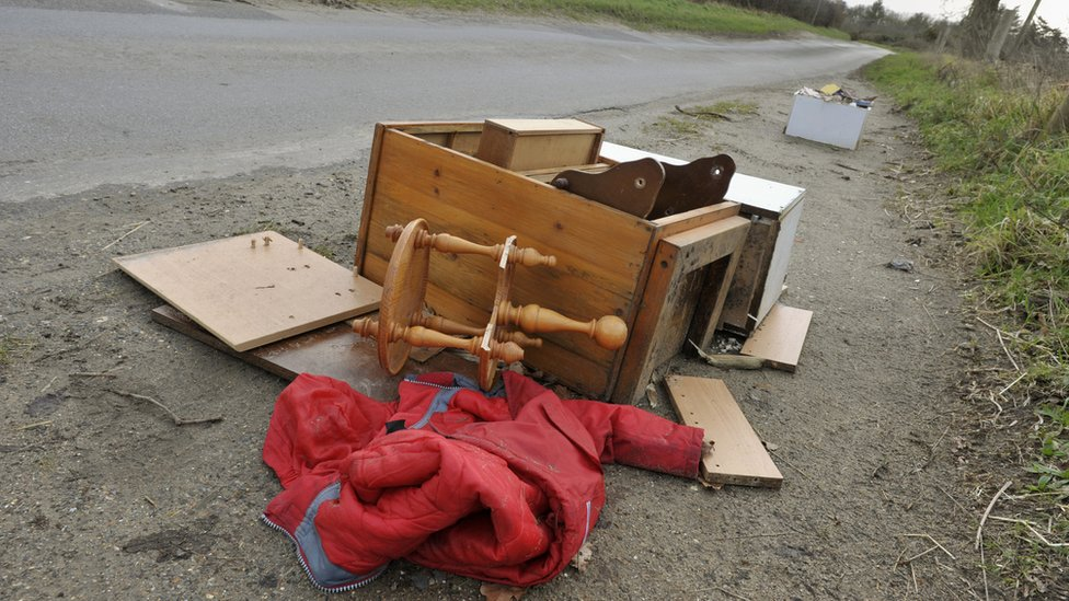 Fly-tipped furniture
