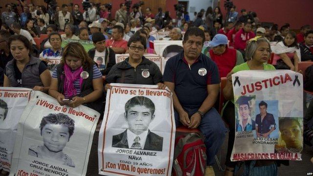 Relatives of the 43 missing students were eager to hear the IACHR report