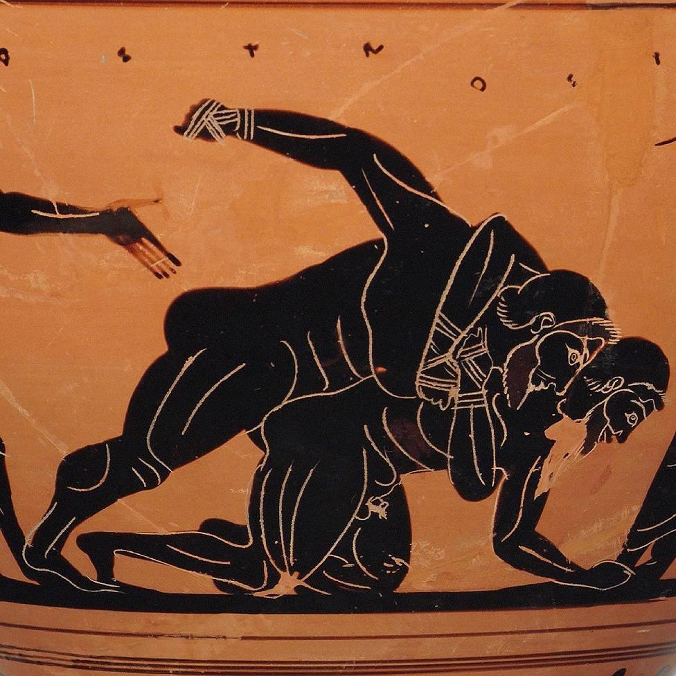 Ilustracion de pancracio en jarron antiguo