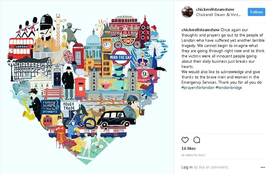 Heart shaped illustartion of London landmarks