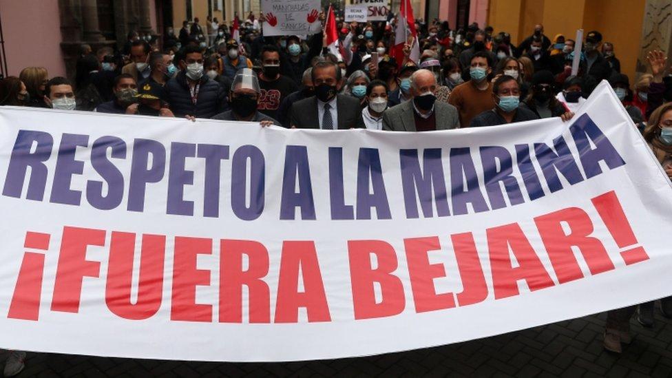 Manifestación contra Béjar.