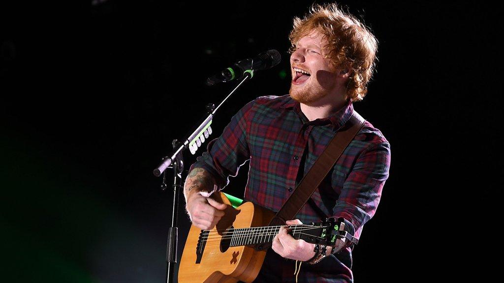 Ed Sheeran plays the Fusion Festival