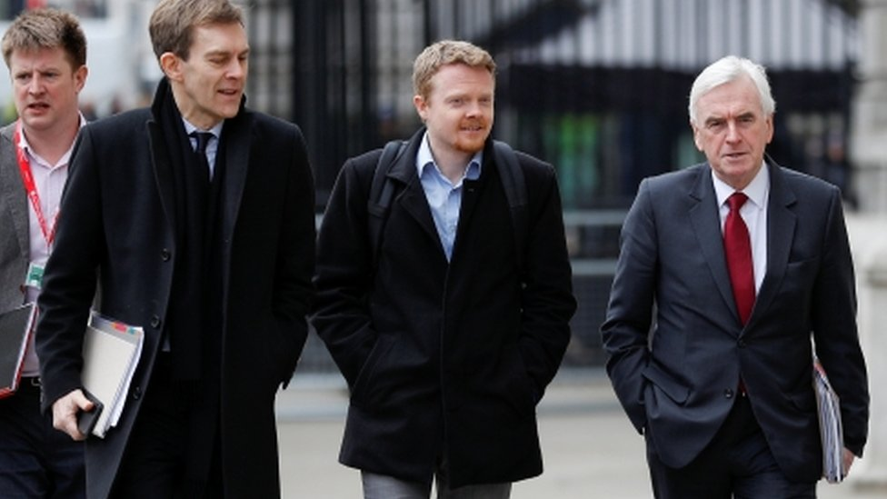 Labour figures arrive for talks