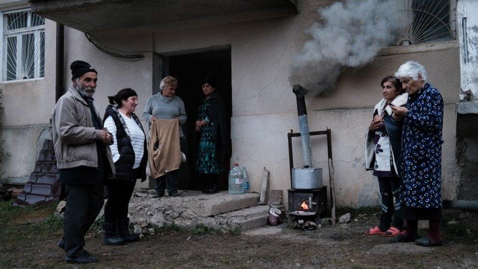納戈爾諾—卡拉巴赫地區舒沙市居民(亞米尼亞外交部發放照片21/10/2020)