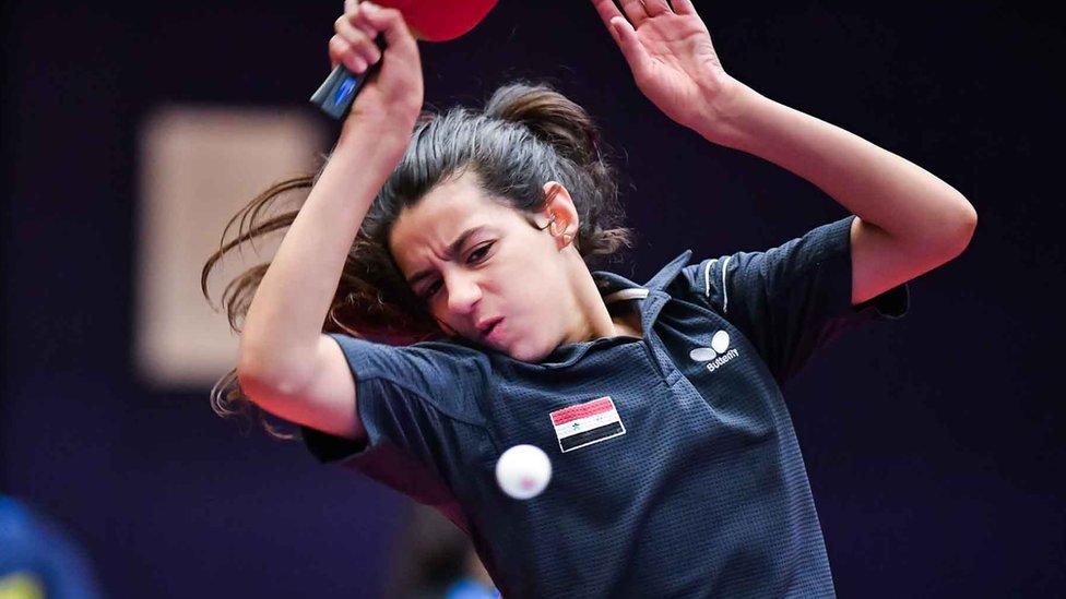 Hend Zaza, jugadora de tenis de mesa de Siria