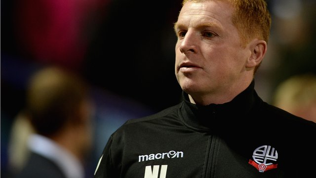 Bolton manager Neil Lennon on draw