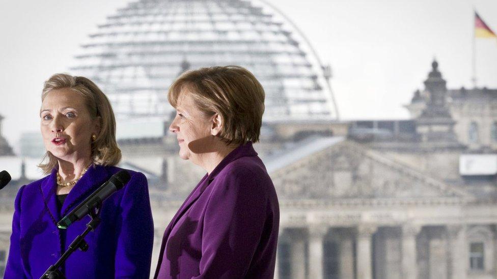 Hilari Klinton i Angela Merkel
