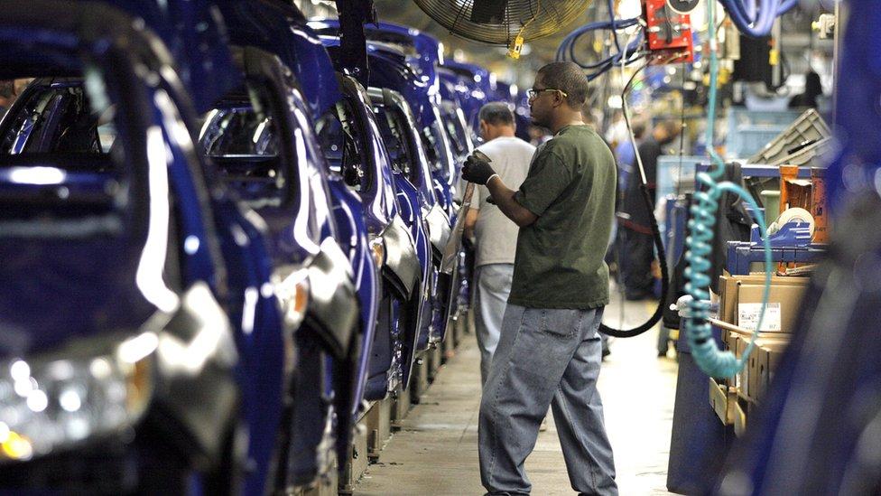 美國福特汽車生產線