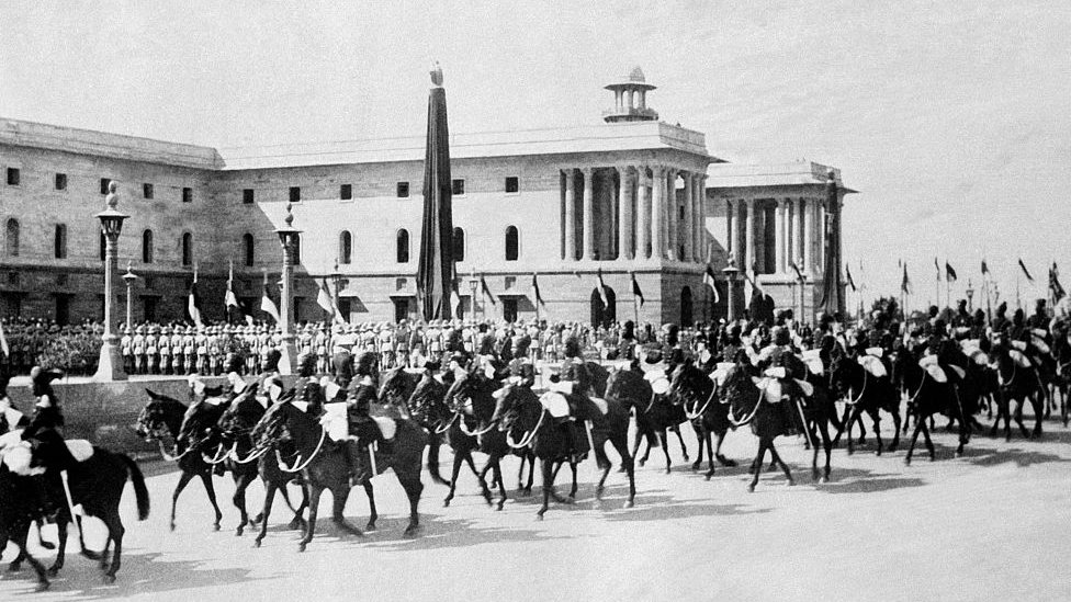 Parade during New Delhi's inauguration