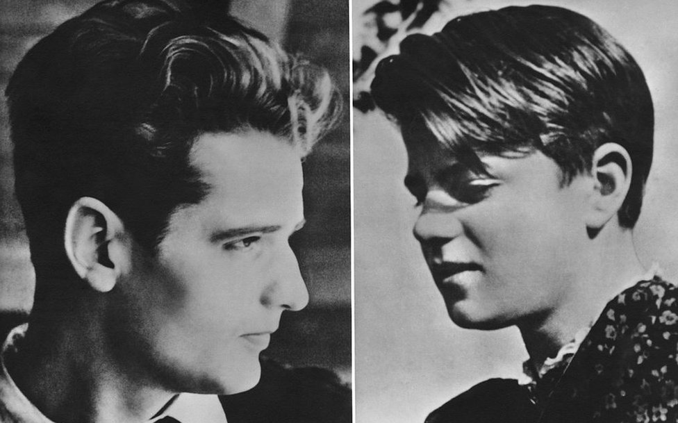 German students Hans Scholl (1918 - 1943, left) and his sister Sophie (1921 - 1943), circa 1940.