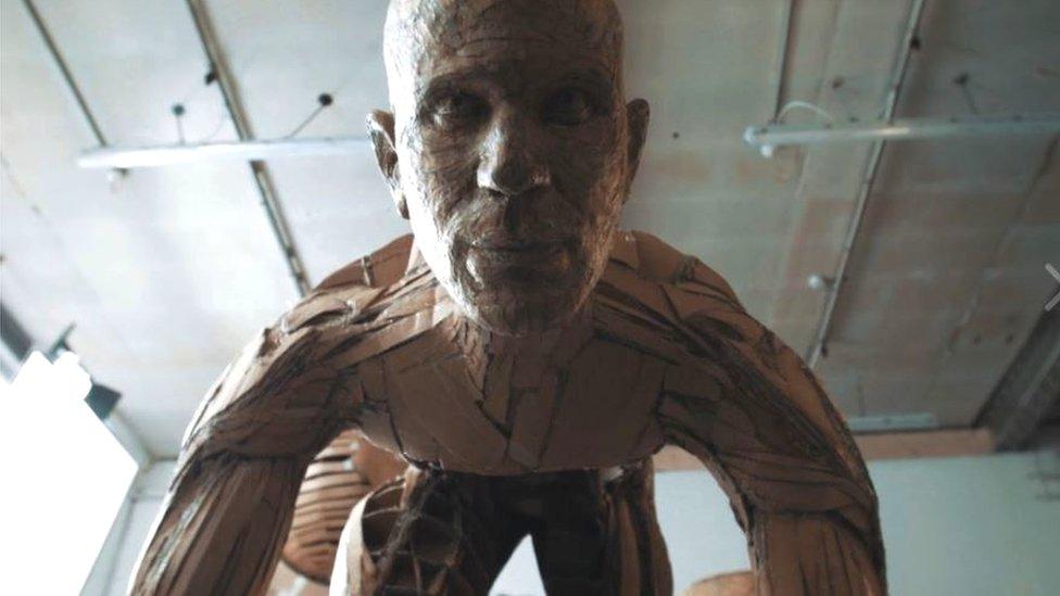 Exeter 'Paper Man' James Lake turns cardboard into art