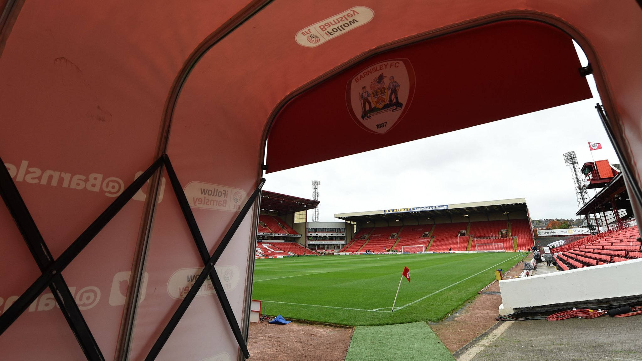 Barnsley: Man arrested and bailed over 'tunnel row' at League One club