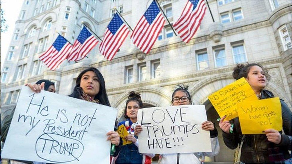 華盛頓特區的特朗普國際酒店經常是反特朗普抗議的地點