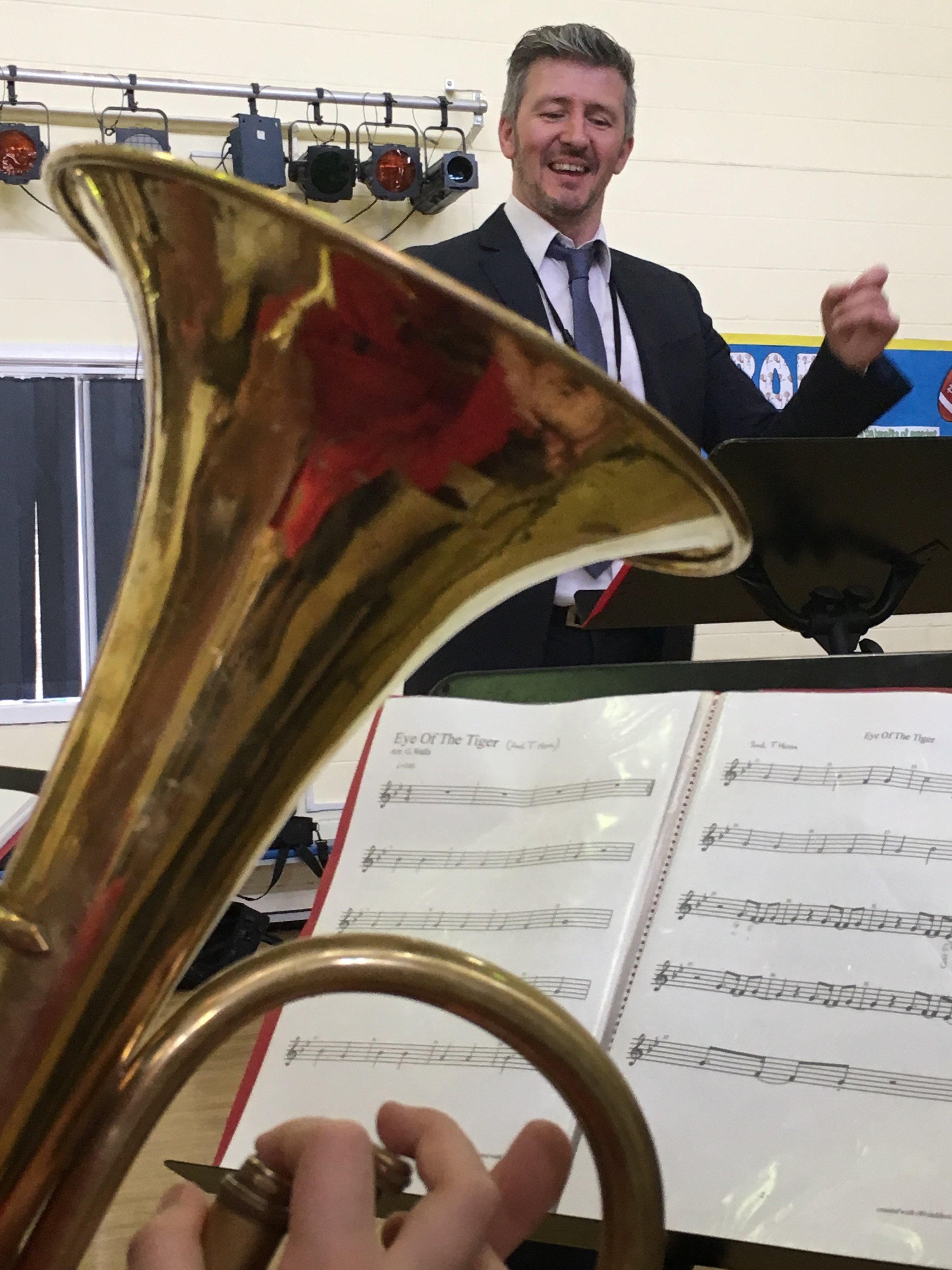 Garry Walls conducting