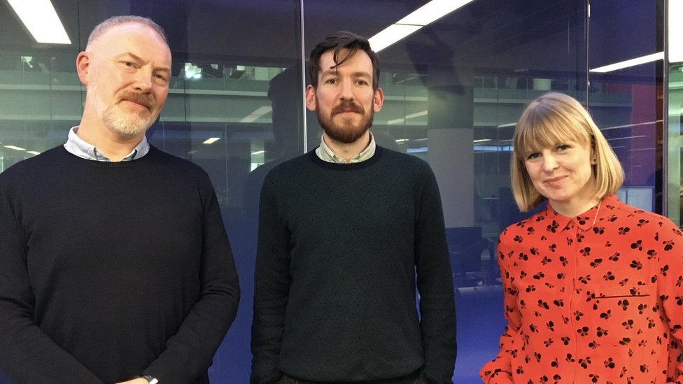 Matt McGrath, Edwin Congreave and Victoria Gill