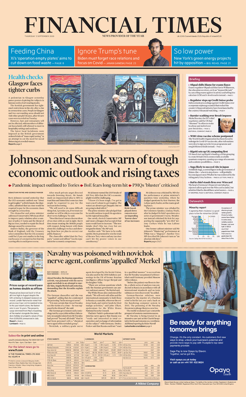 Newspaper headlines: Boris Johnson's bid to calm MPs and Ofqual attacks minister thumbnail