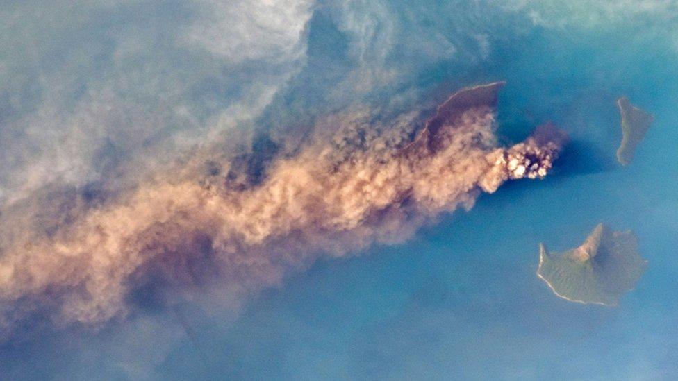 Volcán Anak Krakatau en septiembre 2018