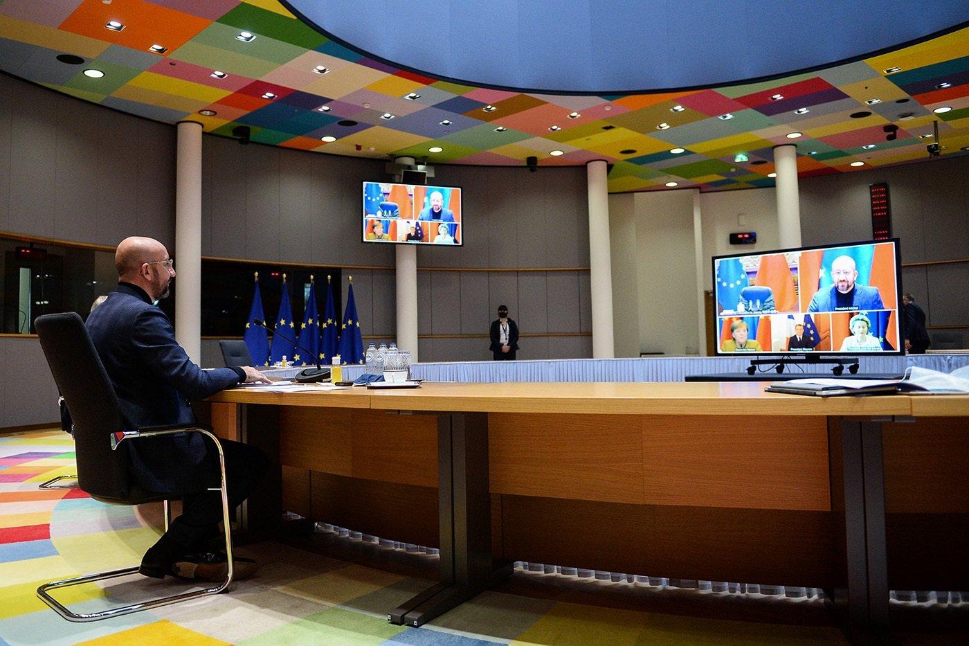 歐盟和中國領導人舉行視頻會晤,共同宣佈完成中歐投資協定談判。