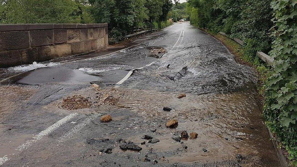 Wrangle over flooded rail Derby bridge repairs