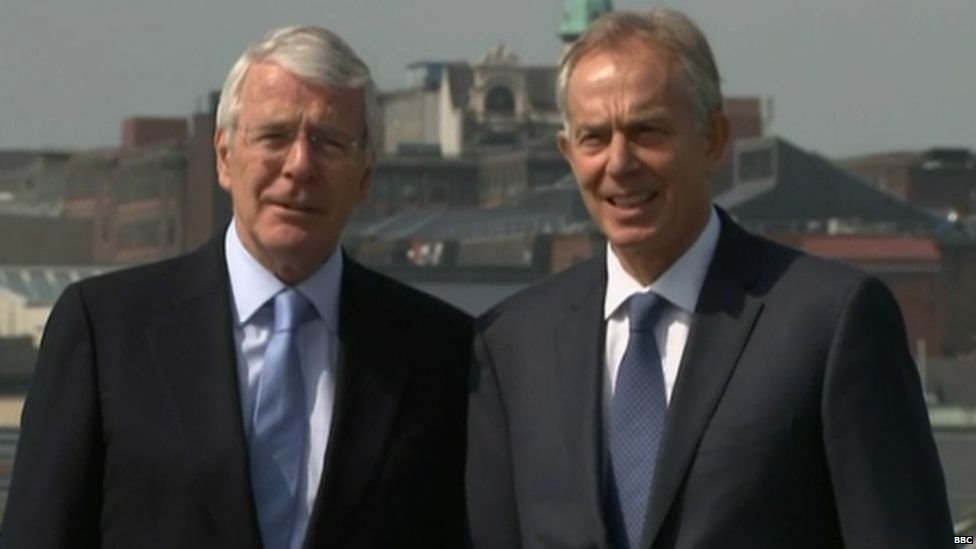 John Major y Tony Blair