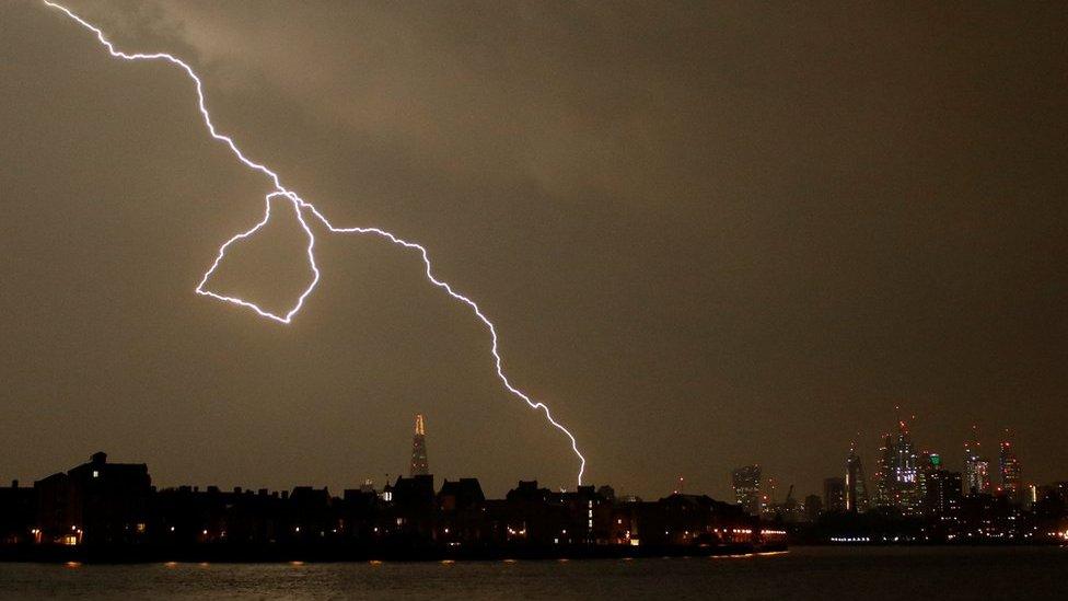 'Spectacular' lightning strikes parts of UK