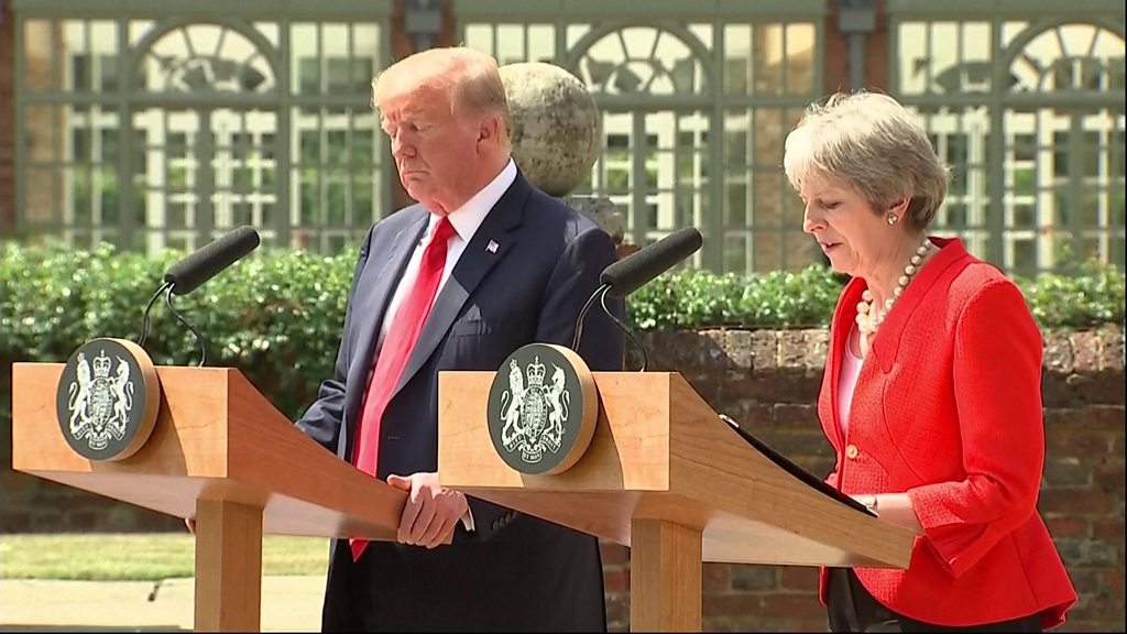 Theresa May and Donald Trump positive on trade after Brexit