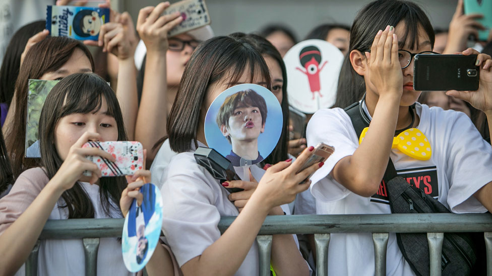 Korean pop fans